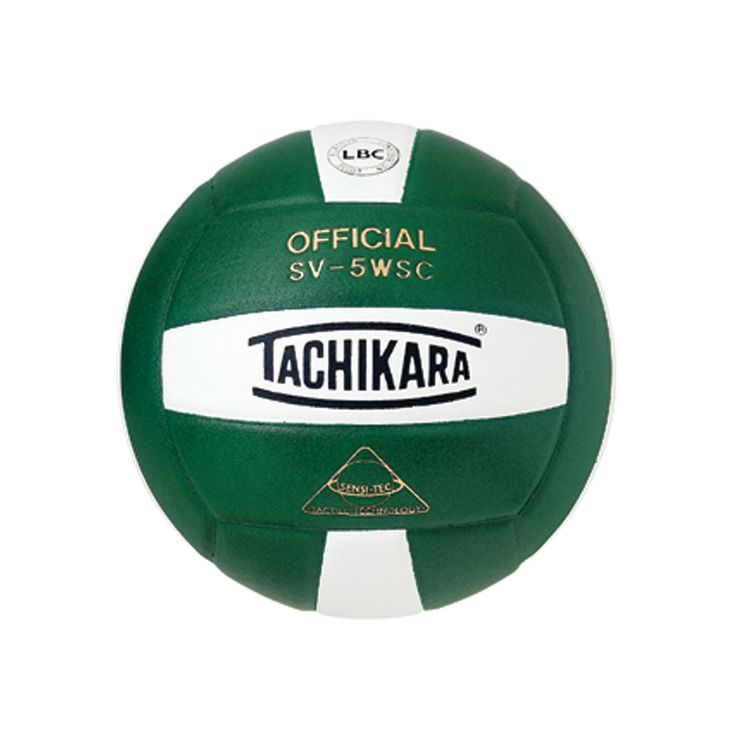 Tachikara Official SV5WSC Microfiber Composite Leather Volleyball, Green