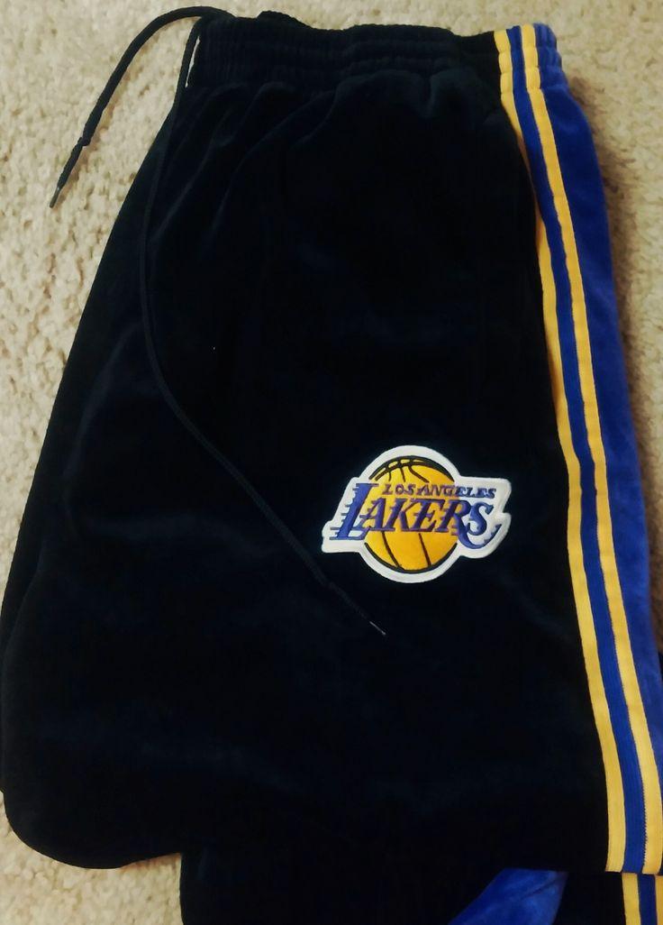 NBA- LA Lakers- Nike Black Velour, Logo Fashion Sweatpants- size XXL