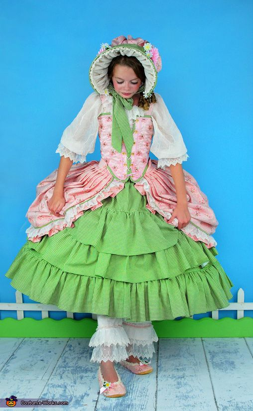 Frilly, Feminine, Little Bo Peep Costume - Halloween Costume Contest
