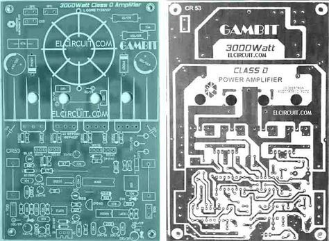 PCB Layout Powerful Amplifier Class D