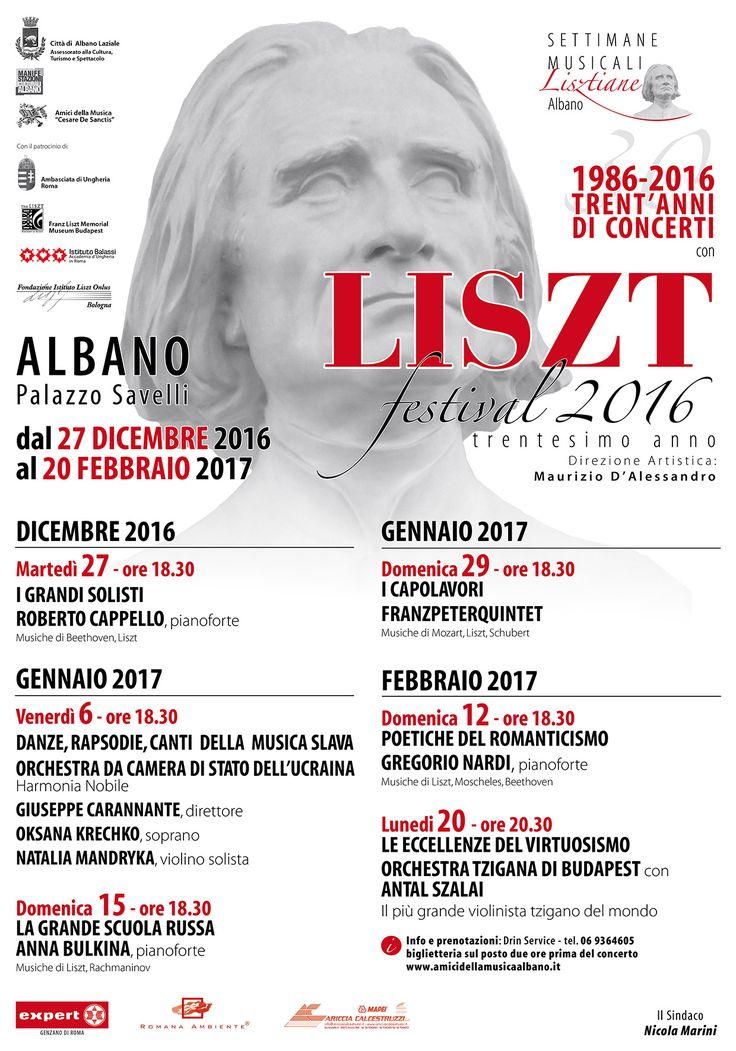 Albano, il più longevo festival lisztiano in Italia. Gregorio Nardi presenta in concerto: Liszt, Beethoven, Moscheles,Schumann. Liszt  trascrizioni: da Lieder di Robert Franz (Auf geheimen Waldespfade; Das ist ein Brausen und Heulen; Meeresstille) e di Schumann (Frühlingsnacht), da opere di Verdi (Paraphrase del Rigoletto) e Wagner (Elsa's Traum), da Lieder di Liszt (Der König von Thule; Der du von dem Himmel bist) e dal capolavoro organistico di Liszt (Phantasie und Fuge über B.A.C.H.).