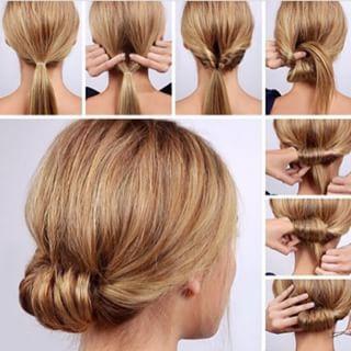 Leve o rabo torcidinho a novos níveis enrolando todo o cabelo pelo elástico. | 22 penteados simples para quando você não sabe o que fazer com seu cabelo
