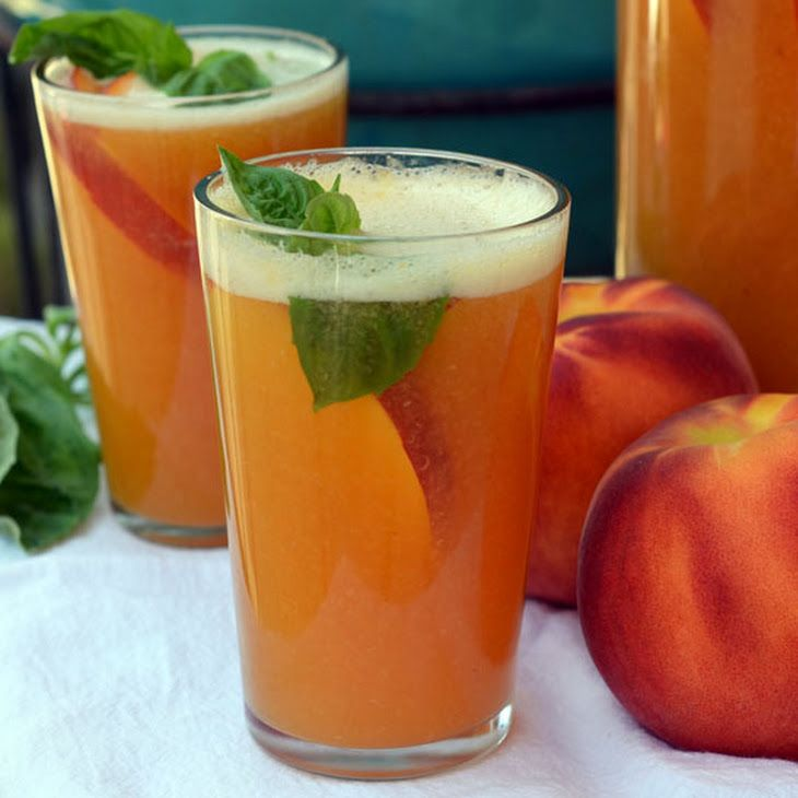 Sparkling Peach Punch II Recipe | DRINK ME!! | Pinterest