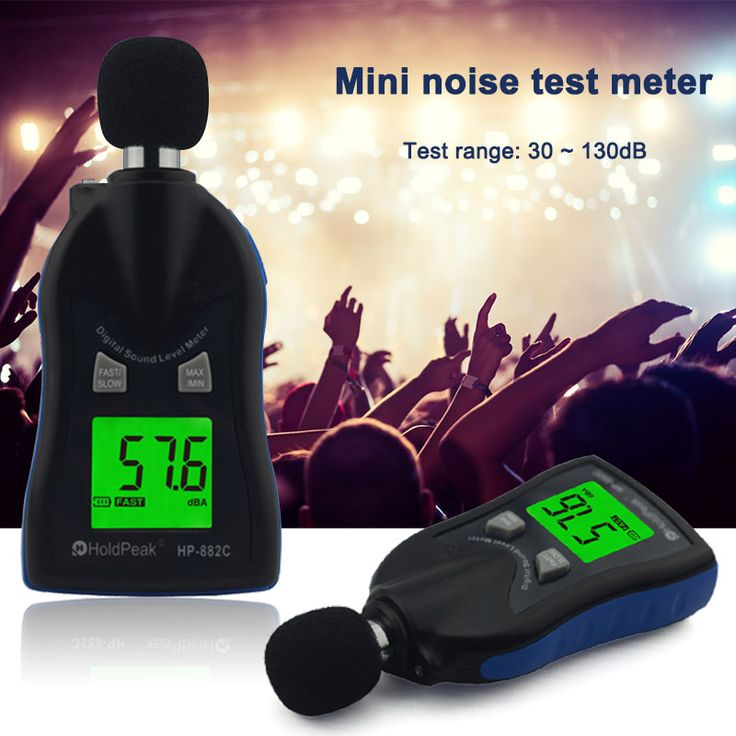 HP-882C Sound Level Meter Digital Noise Testers Monitor Pressure Accuracy