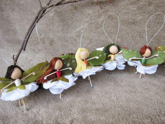 Fleur fée des poupées miniatures fées fée ornements