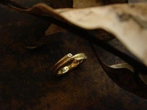 [Ancient Delusion : 013] Ring-K18YG/Diamond 0.01ct