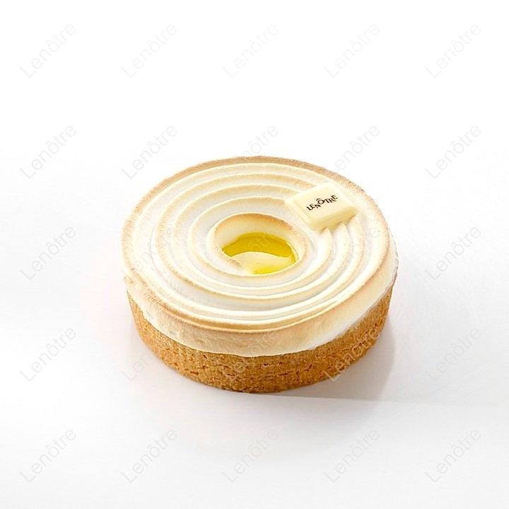 Tartelette au citron meringuée (Lemon cream, Italian meringue, Yuzu and pâte sucrée) | Lenôtre
