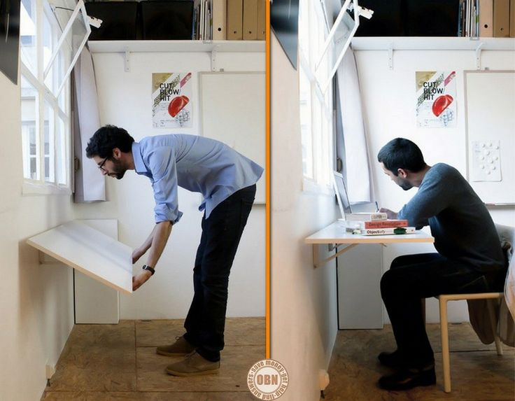 Permanent Link To : Extra Folding Desk In Bold Designu0027s Office. Find This  Pin And More On Space Saving Furniture ...