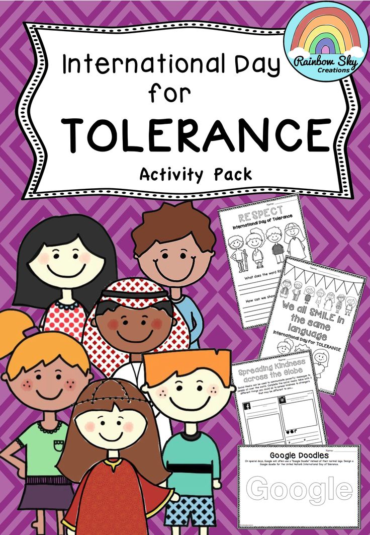 Over International Day for Tolerance has 15 activities for Years 2 - 6 to teach students about Tolerance and Respect towards people that may be different to them. Can be used on or leading up to the International Day for Tolerance or any other time that is useful for your class. ~ Rainbow Sky Creations ~