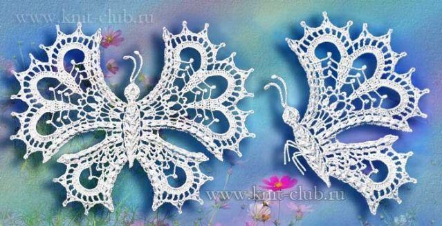 Бабочки. / Вязание крючком