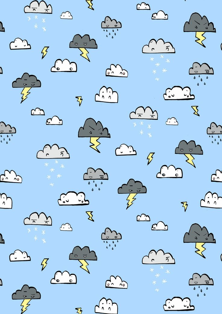 Thunderstorm & stormcloud pattern #cute #wallpaper #android #iphone