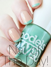 zooey deschanel inspired spring french manicure nails: Nails Art, Mint Green, French Manicures, Deschanel Inspiration, Spring Nails, Nails Tips, French Tips, Beautiful Blog, Green Nails