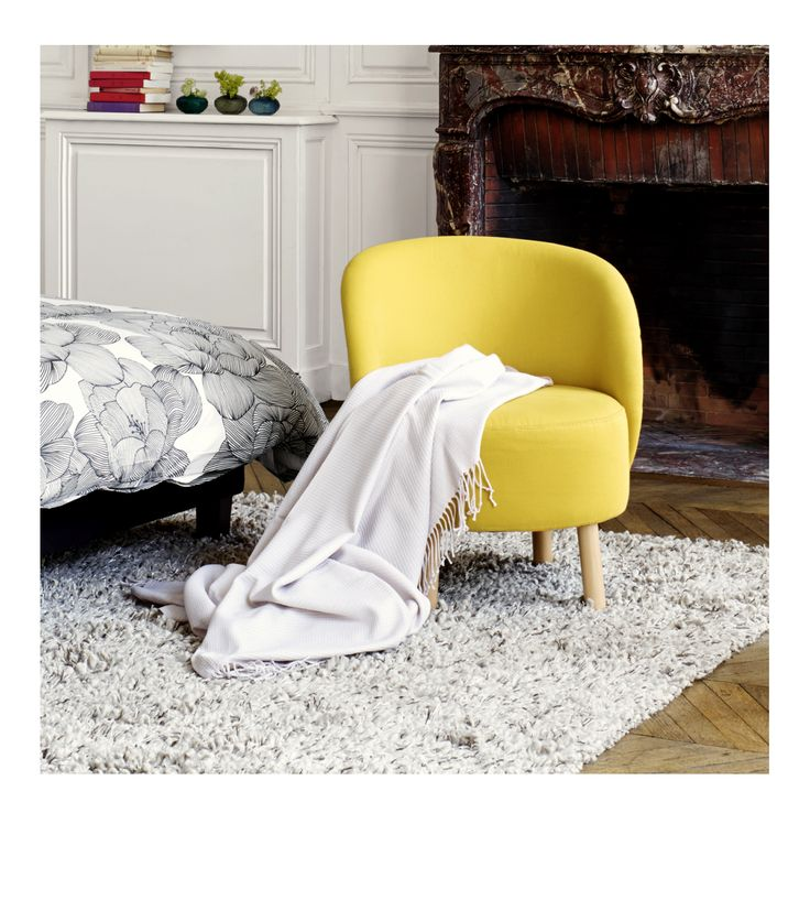 les 25 meilleures id es de la cat gorie fauteuil jaune moutarde sur pinterest tapis jaune. Black Bedroom Furniture Sets. Home Design Ideas