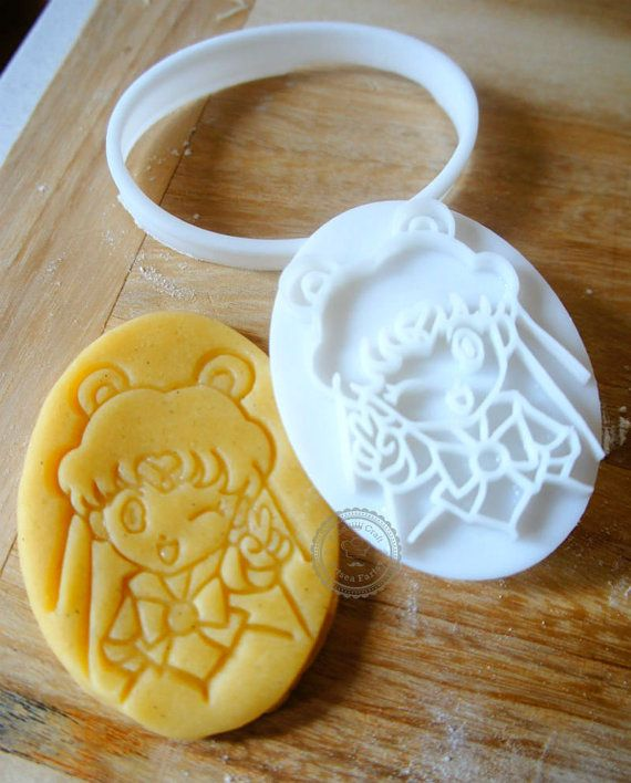 Sailor moon cookie cutter Chibi Sailor Moon 3D cookie cutter Biscuit Mold Fondant Mold Japanese Anime Cookie Sailor Moon 20th Anniversary