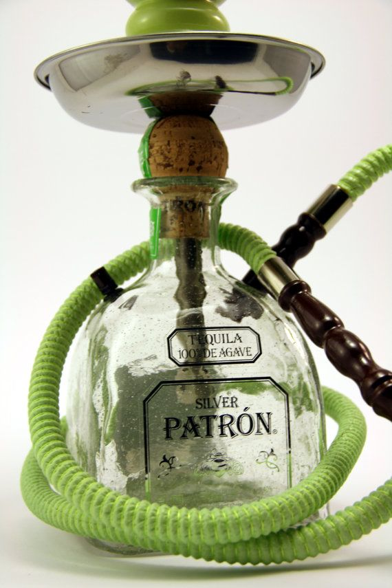 Green Patron Reposado 750ml Bottle Shisha Hookah by TheHOOKAHolic, $69.99