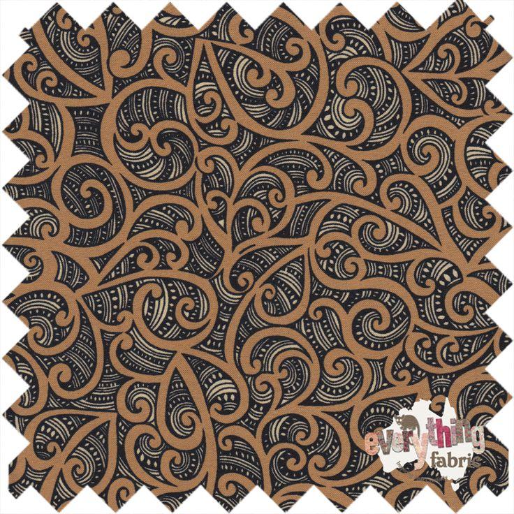 Kiwiana - Te Koripi Wae O Maui http://www.everythingfabric.com.au/shop/category/fabric-by-collection/new-zealand/