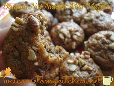 Made some yummy Banana Nut Nutella Mini Muffins .. so  yummy. Great with a cup of coffee.