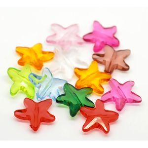 """Image of 100PCs At Random Colorful Starfish Acrylic Spacer Beads 21mmx20mm 78""""x 68"""""""