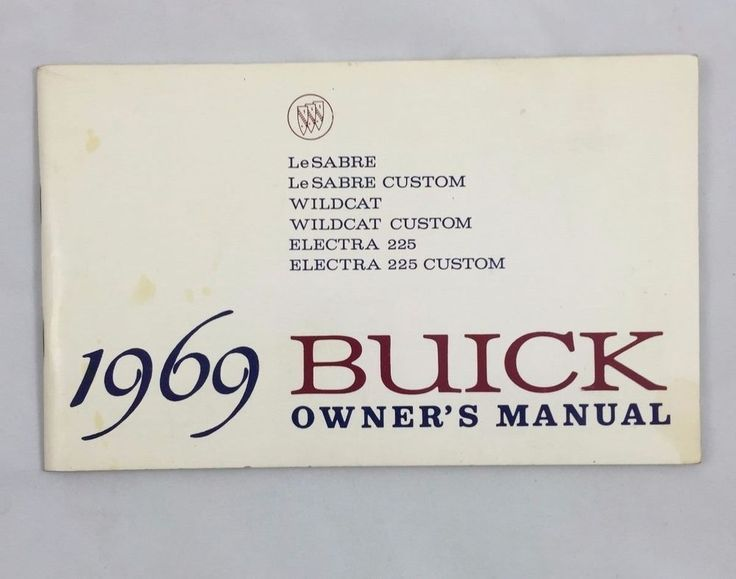7 best cars owners manual images on pinterest owners manual 1969 buick owners manual for lesabre wildcat and electra 225 fandeluxe Choice Image
