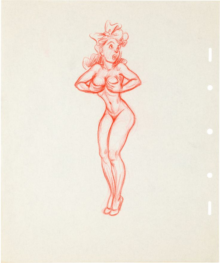 Animation Art: Production Drawing, Disney Pin-Up Illustrations by Paul Murry Group (Walt Disney, c.1930s).... (Total: 3 Items) Image #6