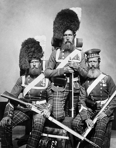 Scottish soldiers who fought in the Crimean War.