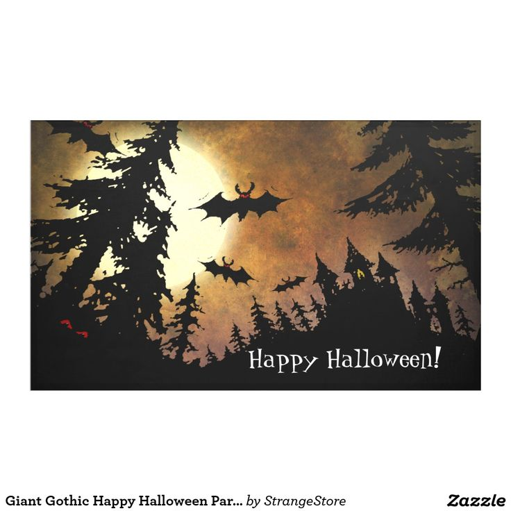 Giant Gothic Happy Halloween Party Banner