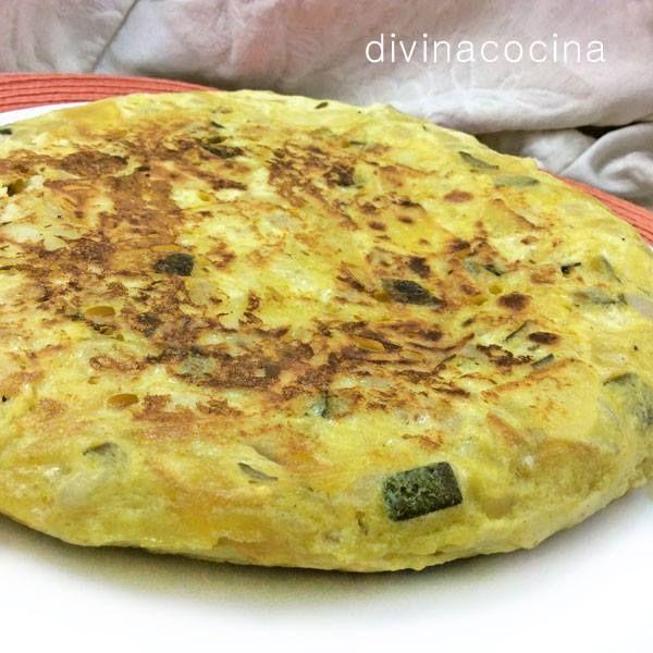 Tortilla de patatas y calabacines < Divina Cocina