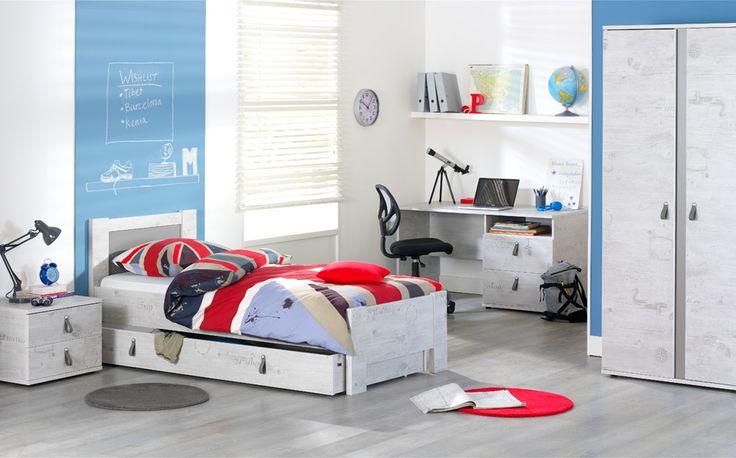 Tienerkamer mats stoere serie waaronder een bed for Bureau kinderkamer