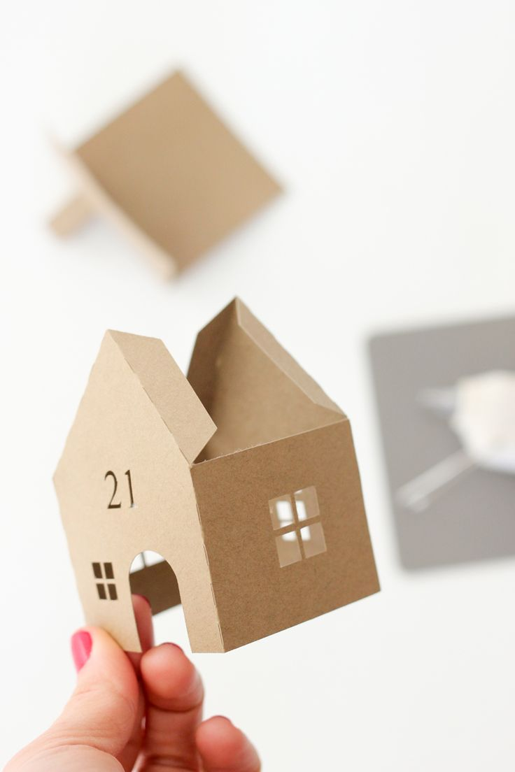 DIY Christmas Advent Paper Houses (  Silhouette Cameo Giveaway!)