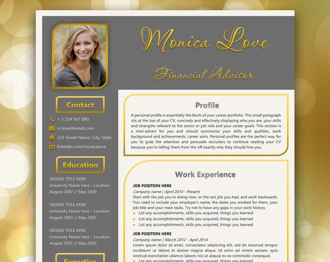 Professional Resume Template Word Modern Resume Template For Etsy Resume Template Word Resume Template Professional Resume Template