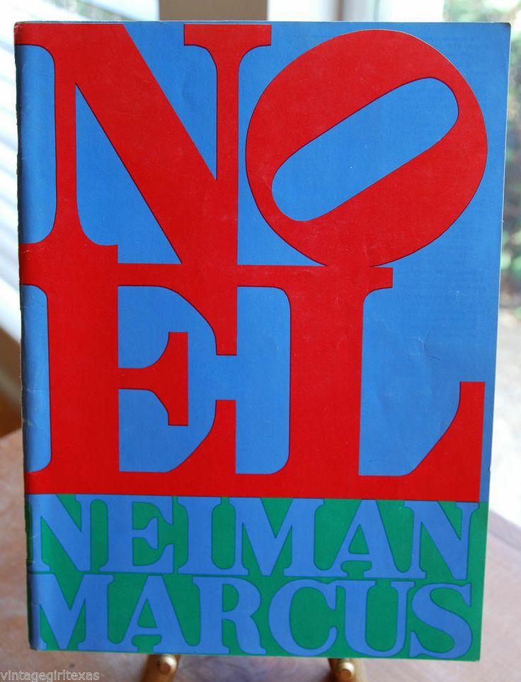 VTG 1960s Neiman Marcus Catalog Robert Indiana cover Christmas Wish Book!! NOEL