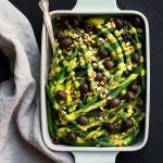 Paleo Green Beans with Pumpkin Alfredo & Olives