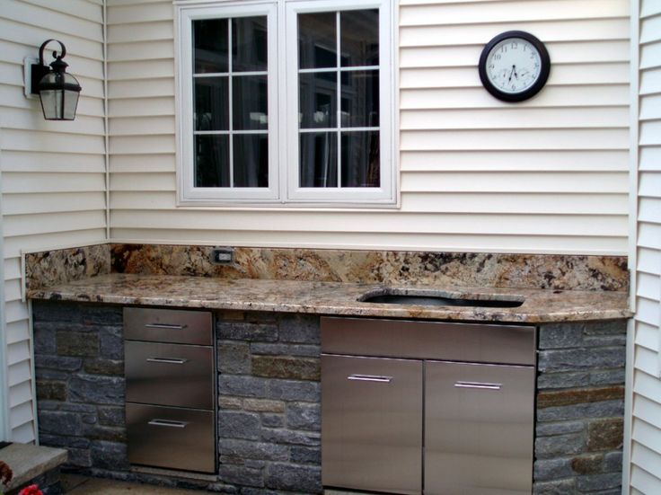 Glamorous Stainless Steel Cabinet Doors Outdoor Kitchen With Brushed Metal Kitchen Cabinet Drawers Also Large Single Bowl Kitchen Sink Undermount