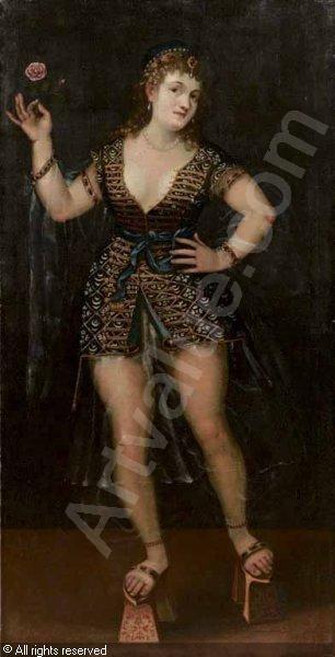 BORDONE Pâris, 1500-1571 (Italy) Title : Ritratto di una cortigiana veneziana: