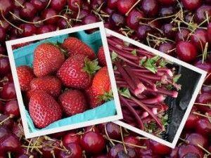 Strawberry, cherry, rhubarb limoncello recipe