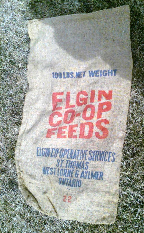 Elgin Co-op Burlap Bag