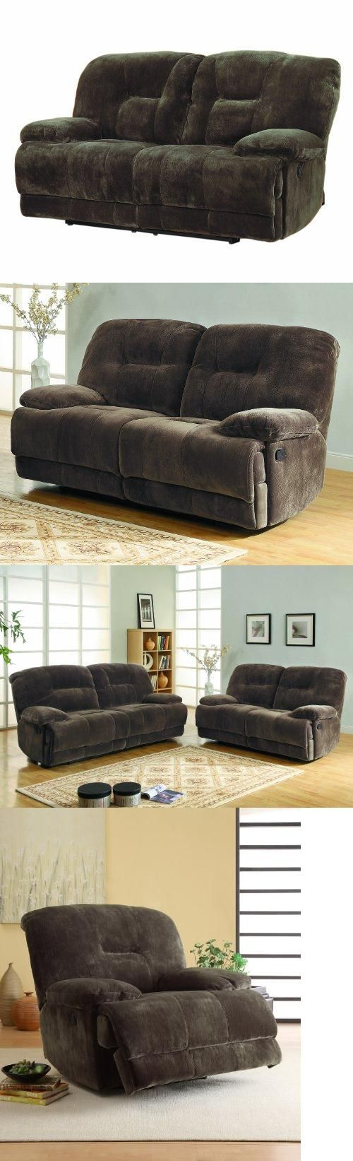 55 best couches images on pinterest chairs chaise lounges and homelegance 9723 2 upholstered double reclining love seat dark brown textured with plush