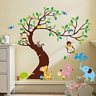 ZOOYOO® Removable Monkey On The Tree Wall Stickers Hot Selling Wall Decals  For Home Decor Part 81