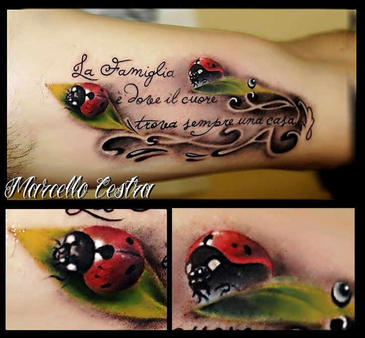 Ladybug Tattoos Designs Ideas And Meaning: 3d Ladybug Tattoo.
