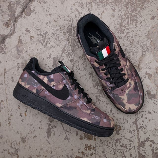 Nike Air Force 1 07 AV7012 200 •• Italy Country Camo i