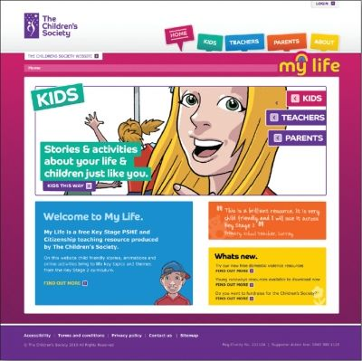 The Childrens Society My life 4 schools.  7-11 years - PSHE, citizenship. These interactive, child-friendly stories and activities give children the support they need to develop and thrive, and enjoy a positive childhood.