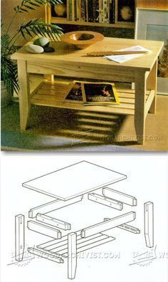 Pine Coffee Table Plans - Furniture Plans and Projects | WoodArchivist.com