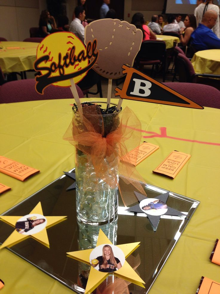 Softball centerpiece