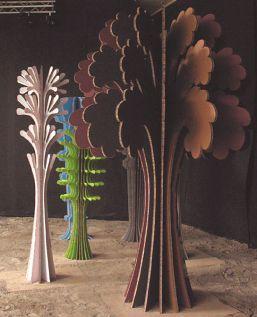 esculturas em cartão