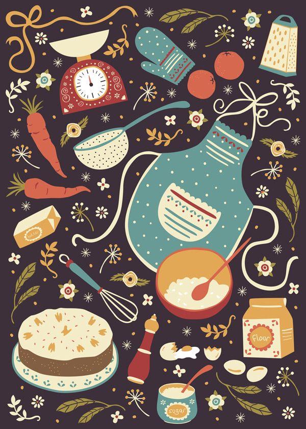 Carrot Cake by Anna Deegan, via Behance