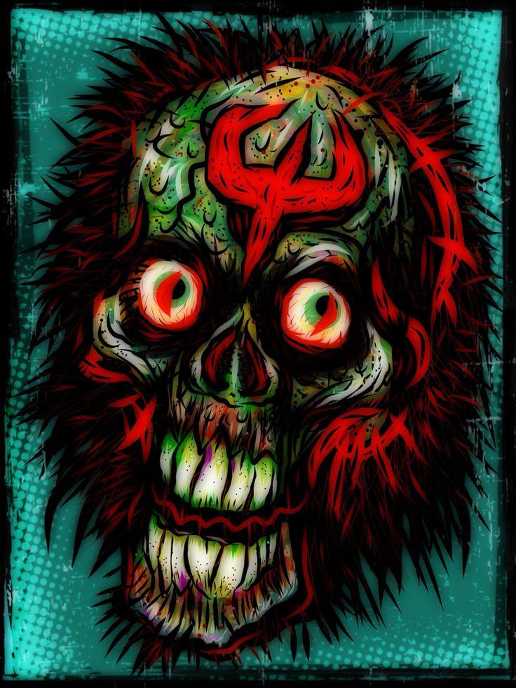 Adobe draw digital art sketchbook stylized skull