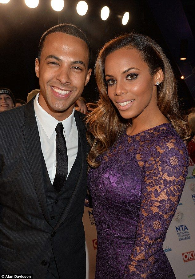 Stunning: Rochelle and Marvin Humes were two of the best-dressed people at the ceremony