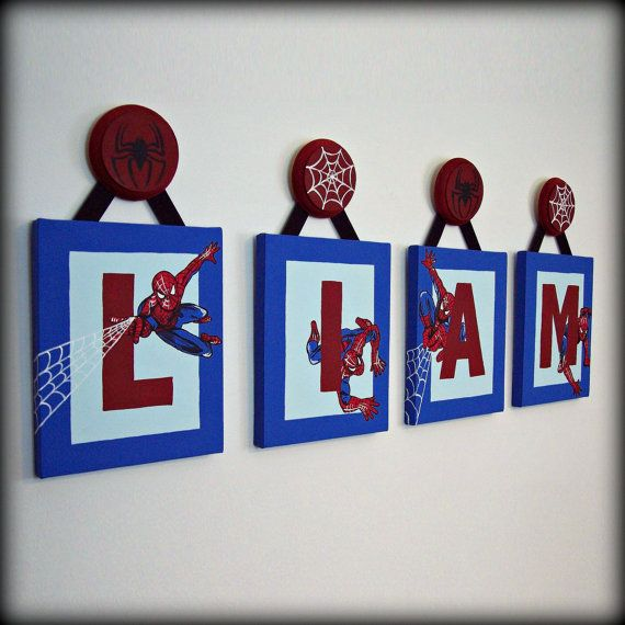 Spiderman Letters 8x10 Boys Room Decor By