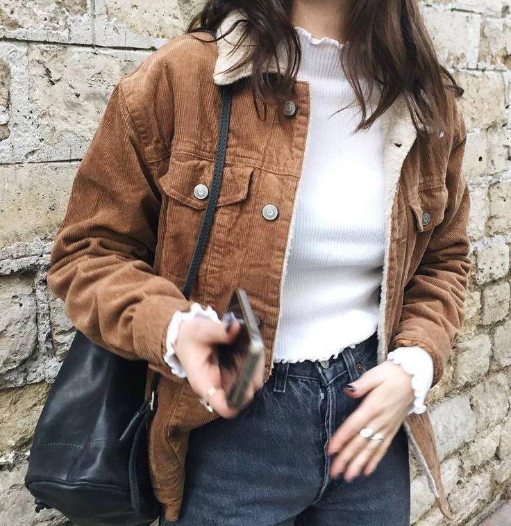 Brandy & melville veste velour oversize cotelé fourée ! Taille unique (34/36/38) #Autresvestesblousons