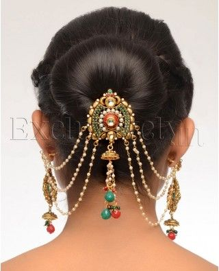 Gorgeous Indian or Bohemian Hair Jewelry